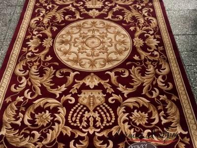 Китайский шерстяной ковер «Корона» красный