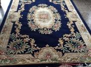 Китайский шерстяной ковер «Королевский» синий