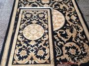 Китайский шерстяной ковер «Корона» черный