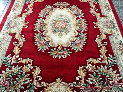 Китайский шерстяной ковер «Королевский» красный