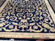 Китайский шерстяной ковер «Леопард» синий