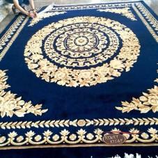 Китайский шерстяной ковер «Золото» синий
