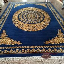 Китайский шерстяной ковер «Золото» светло-синий
