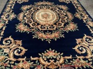 Китайский шерстяной ковер «Дочурка» синий