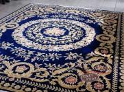 Китайский шерстяной ковер «Вензеля» синий