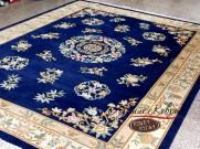 Китайский шерстяной ковер «Вьетнамский» синий