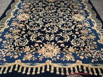 Китайский шерстяной ковер «Халиф» синий