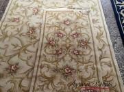 Китайский шерстяной ковер «Поле-цветы» кремовый